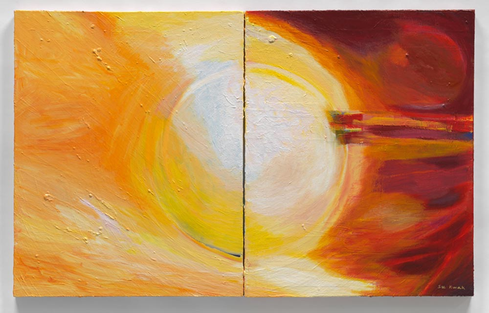 Descending Light (2011) Acrylic on Canvas 30 x 48 in. (76 x 122 cm)