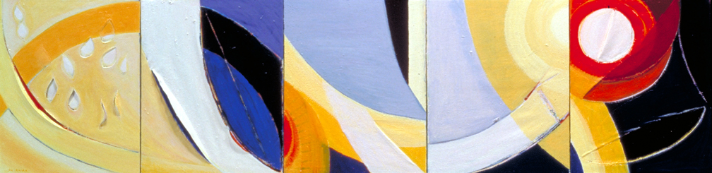 Healing Light #6 2004 Acrylic on Canvas 30x120x3 inches (76x305x8cm)