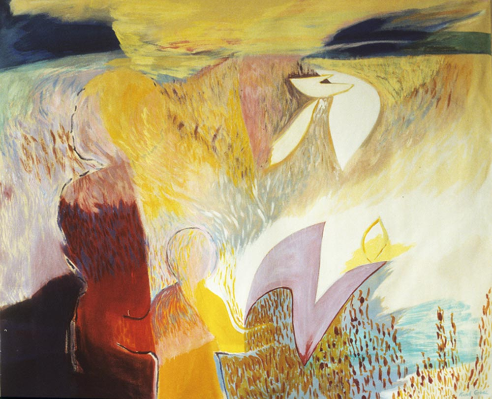 Song of Nature #1 1986, Acrylic on Canvas 60 x 72 in (152 x 183 cm)