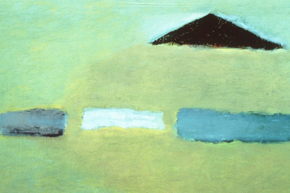 Three Clouds (1979), Oil on Canvas 40x60 in (102x152 cm)